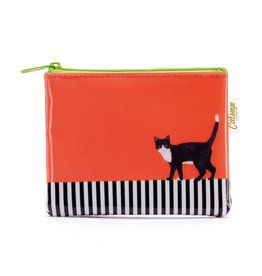 Catseye Cat on Stripe - Coin Purse