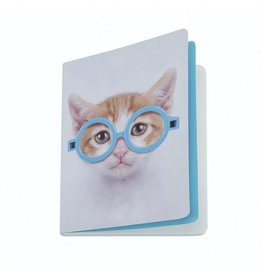 Catseye Glasses Cat - Notebook