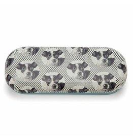 Catseye Dog Etching - Brillendoos