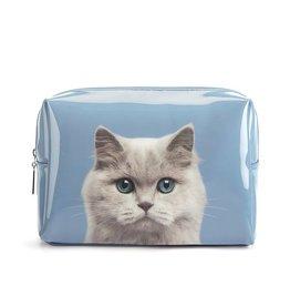 Catseye Cat on Blue - Toilettas