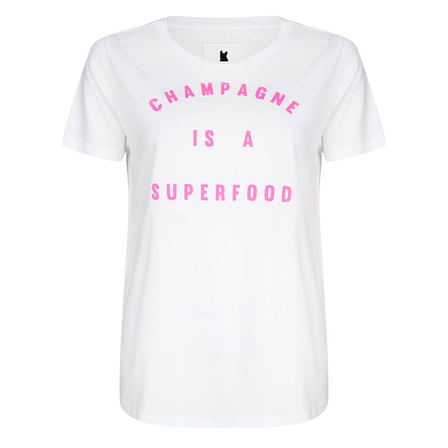 Blake Seven T-shirt - Champagne is a superfood