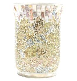 Yankee Candle Gold & Pearl Jar Holder