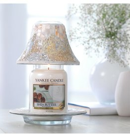 Yankee Candle Gold & Pearl Large Shade & Tray