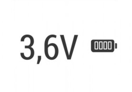 3,6v accu voor Bosch