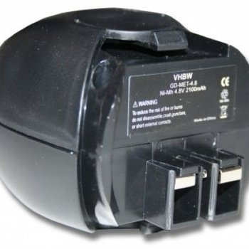 Metabo Accu Metabo 4,8v 2100mAh 2,1Ah Ni-MH Replacement  6.27270 6.27271 6.27273 6.31858 60005952 631858000