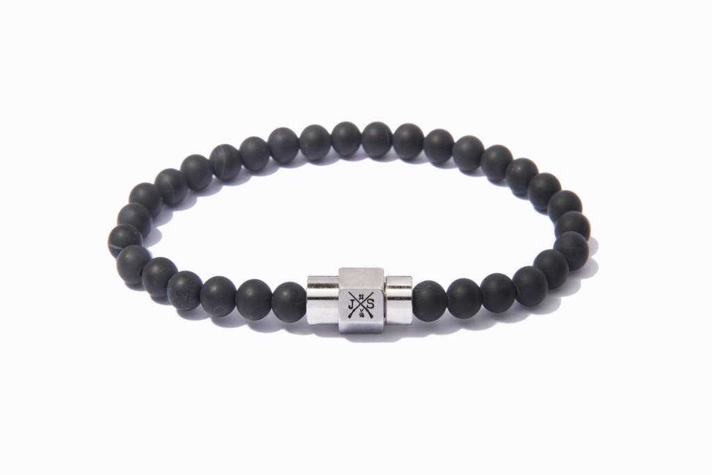 zircon paul products onyx rich grande bracelet black silver