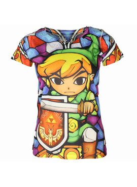 The Legend of Zelda The Legend of Zelda Link Full Colour Dames Shirt