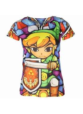 The Legend of Zelda Zelda Link Full Colour Dames Shirt