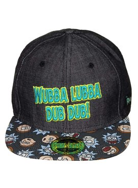 Rick and Morty Rick and Morty Wubba Lubba Snapback Cap Pet