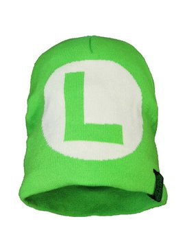 Super Mario Bros Super Mario Luigi Big L Knitted Hat Beanie