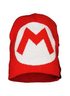 Super Mario Bros Super Mario Big M Knitted Hat Beanie