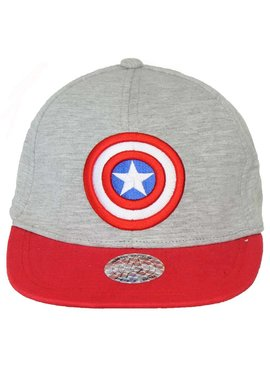 Marvel Comics: The Avengers, Captain America, Spider-Man, The Hulk, Thor, Black Panther, Deadpool, Ant-Man, Iron Man, The Punisher Marvel Comics Captain America Logo Snapback Cap Pet Grijs