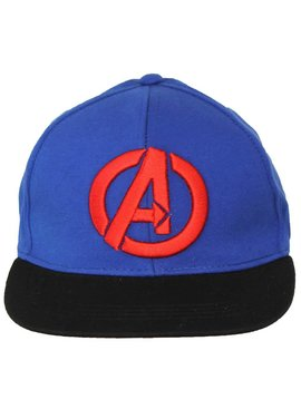 Marvel Comics: The Avengers, Captain America, Spider-Man, The Hulk, Thor, Black Panther, Deadpool, Ant-Man, Iron Man, The Punisher Marvel Comics The Avengers Logo Snapback Cap Pet Blauw