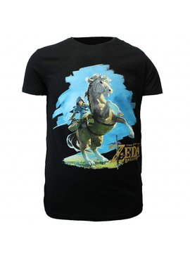The Legend of Zelda The Legend of Zelda: Breath of The Wild Link Op Zijn Paard T-Shirt