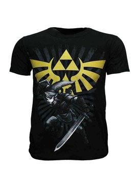 The Legend of Zelda The Legend of Zelda Link met Gouden Hyrule Crest Logo T-Shirt
