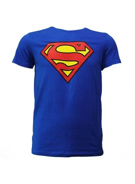 DC Comics: Superman, Batman & The Joker Superman Logo T-shirt Knalblauw