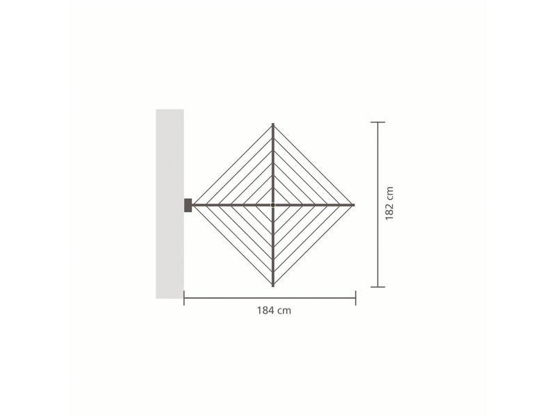 Brabantia Wanddroger  Wallfix 24 meter met opbergbox/beschermbox