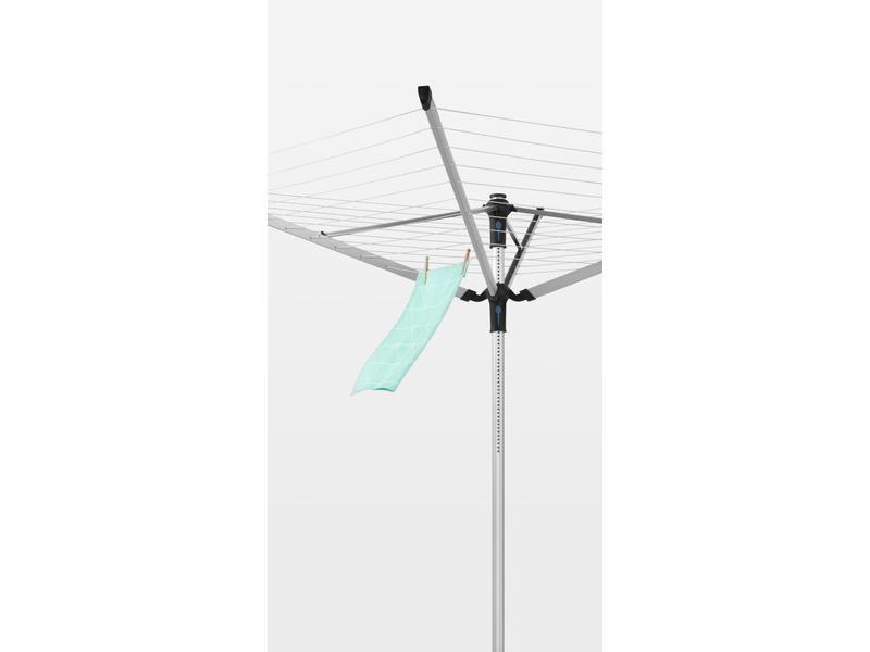 Brabantia Droogmolen Lift O Matic  Advance 50 meter met grondanker, Incl. beschermhoes en wasknijpertas