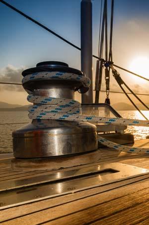 Bolder op schip