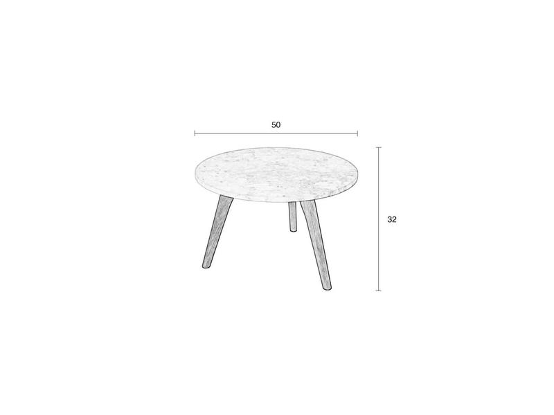 Zuiver SIDE TABLE WHITE STONE