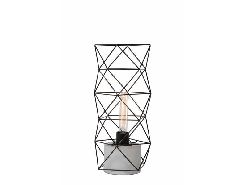 Lucide RUMICO- Tafellamp- diam. 18,5 cm- Zwart