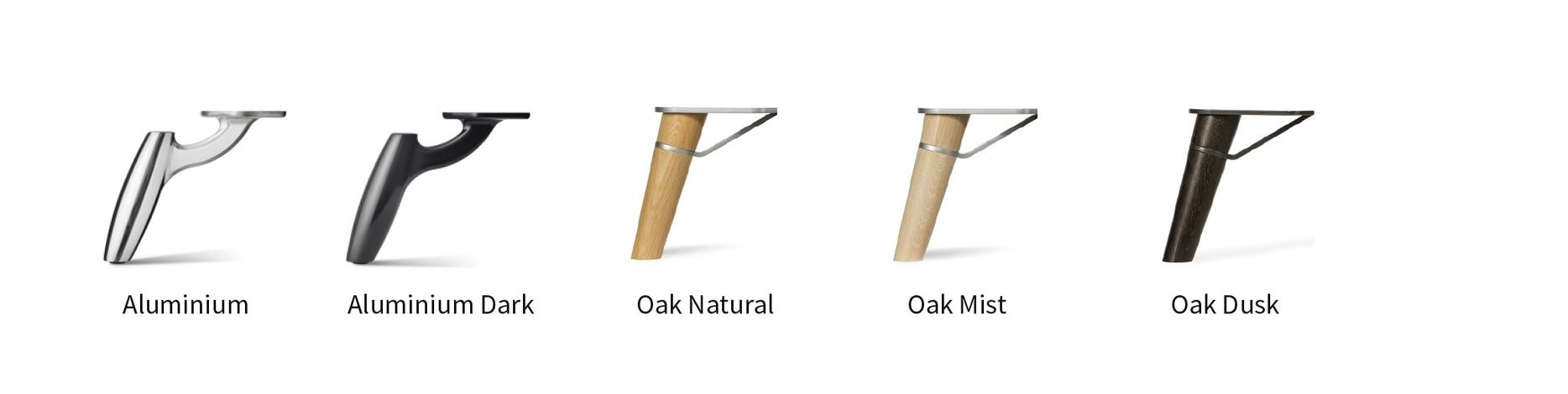 Aluminium legs, oak natural sofa legs, natureel eiken bank poten DOTshop