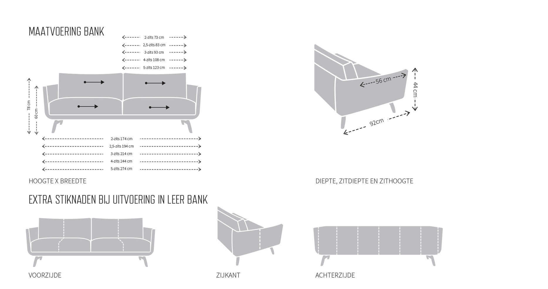 Specificaties van byen bank van design on stock bij Dotshop