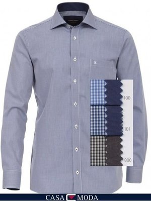 Casamoda Overhemd Ruit Mouwlengte 7