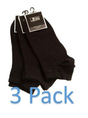 Enkelsok Zwart (3pack)
