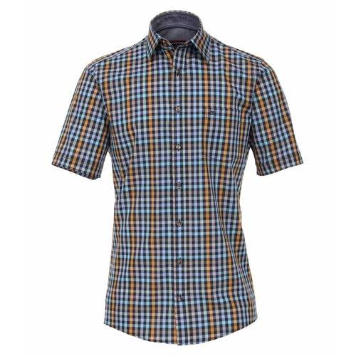Casamoda Poplin overhemd halve mouw geruit