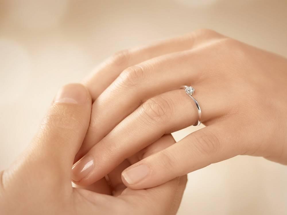 Verlobungsring Devotion Weißgold