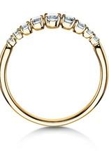 Verlobungsring Nine Diamonds Gelbgold