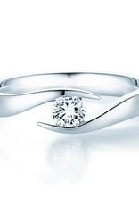 Verlobungsring Twist Weißgold