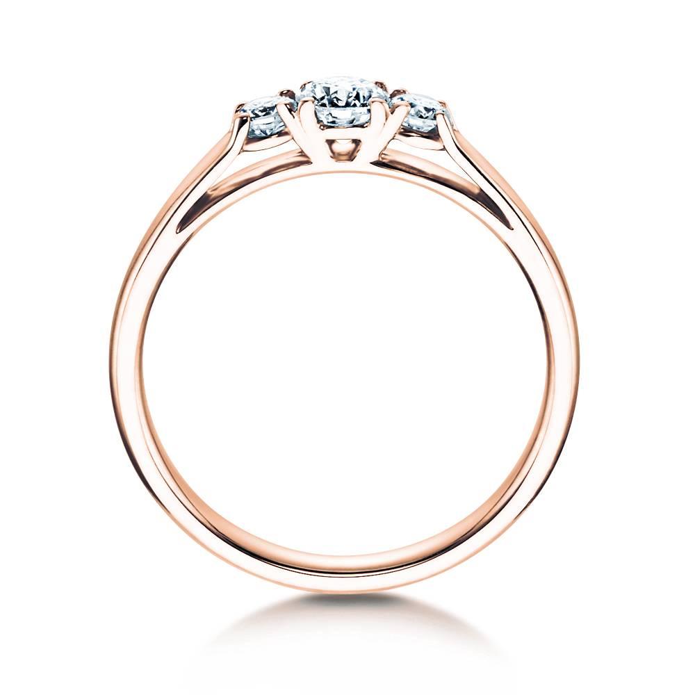 Verlobungsring 3 Stones Rotgold