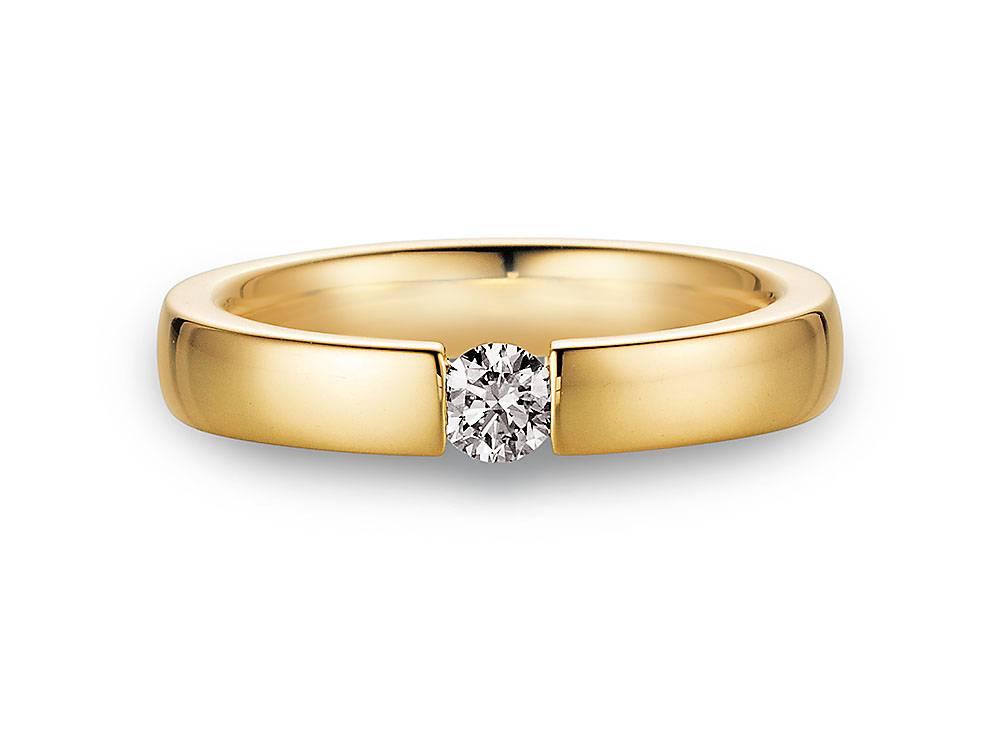 Verlobungsring Infinity Gelbgold