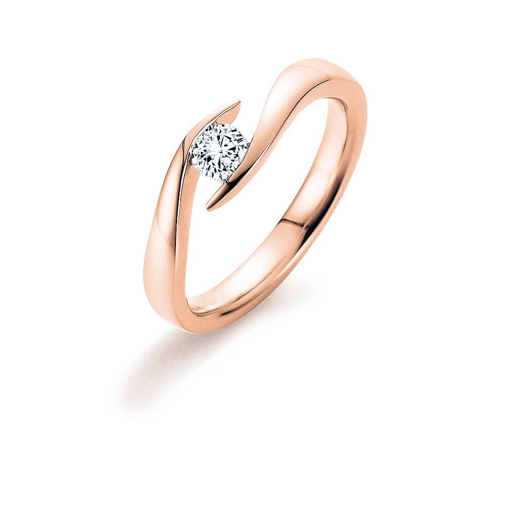 Verlobungsring Twist Rotgold