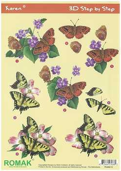 Romak 3D sheet Romak Karen Butterflies