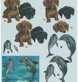 Romak 3D sheet Romak Dogs Dolphin