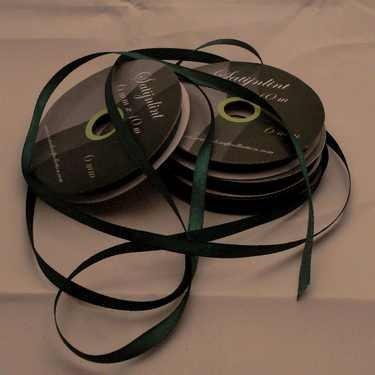 Central Craft Collection 6mm satinbånd jul Green