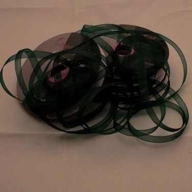 Central Craft Collection 3mm Organza Ribbon jul Green