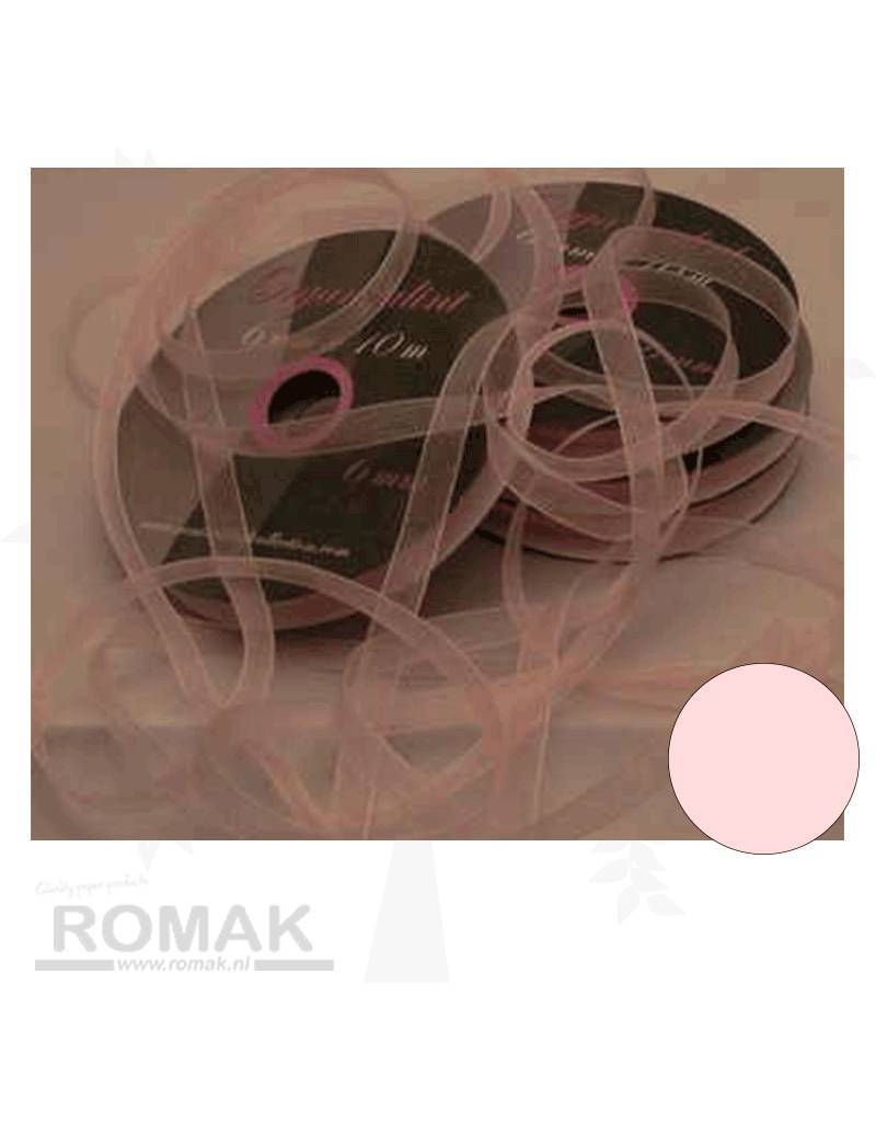 Central Craft Collection 6mm Ribbon Organza Lyserød