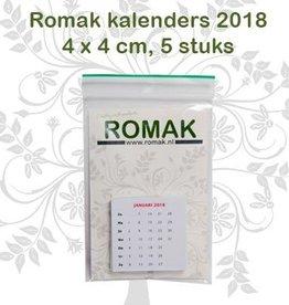 Romak Mini Calendrier Néerlandais