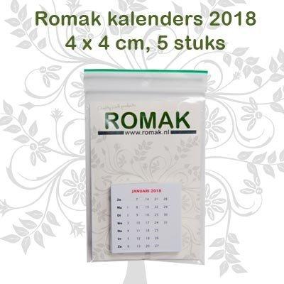 Romak Romak Mini kalender 4x4 cm