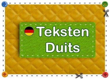 Teksten Duits