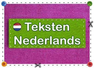 Teksten Nederlands