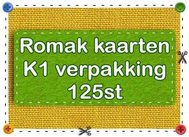 Romak kort K1 pakke 125st