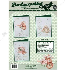 Hobby Idee Embroidery Christmas card set Hobby Idea
