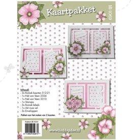 Hobby Idee Card set Floral pink Hobby Idea