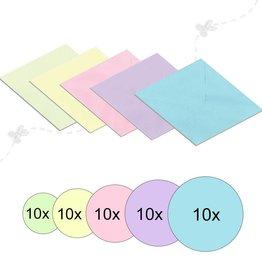 Envelopes 17x17 cm Pastel colors