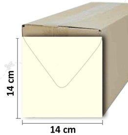 Enveloppe vierkant creme 14*14 cm